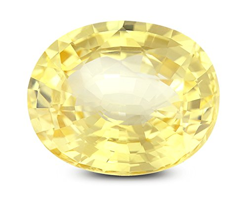 Pukhraj Stone Original Certified Natural Yellow Sapphire Gemstone 5.5 Ratti