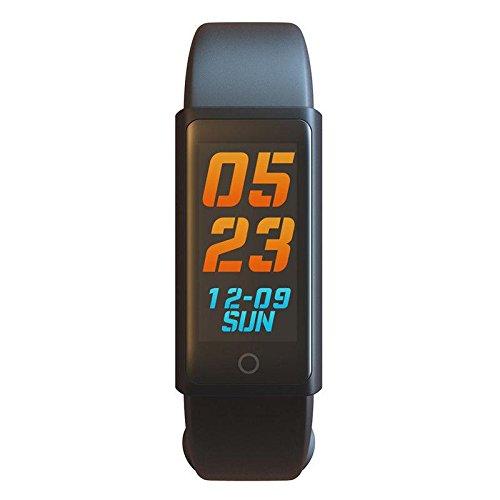 OOLIFENG Fitness Tracker, Blutdruck Herzfrequenz-Messgerät Wasserdicht, Bluetooth Kabellos Smart Wristband Armband HR für Android & IOS