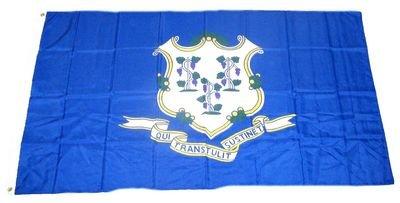 Fahne / Flagge USA Connecticut NEU 90 x 150 cm Flaggen