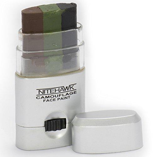 Nitehawk - Stick de maquillage pour camouflage militaire - système de molette - 3 couleurs