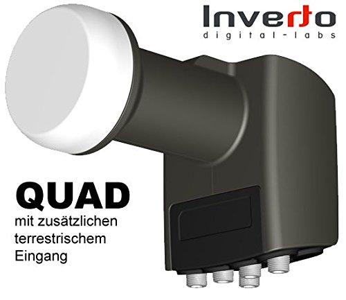 Universal Quad/Terr-LNB INVERTO, 0,2 dB
