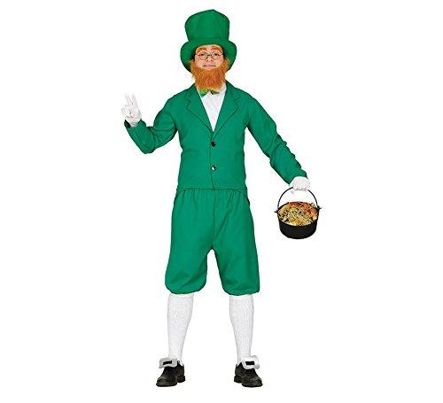 Grünes Leprechaun Kostüm für Herren St. Patricks Day M (48-50)