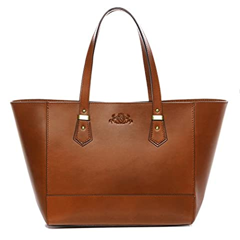 Scotch & Vain large tote bag & shoulder bag - handbag TRISH stable character - women`s bag tan-cognac leather