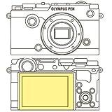 MartinFields Overlay Plus-Protector de Pantalla para Olympus Pen-F