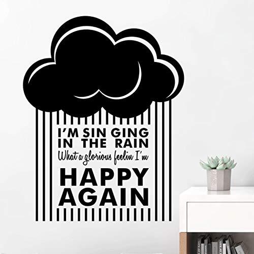 Wetter-vinyl (captain_y Wandsticker Wetter Regen Himmel Wolken Vinyl Wandaufkleber Ausgangsdekor Schlafzimmer Kinderzimmer Wohnzimmer Kunst Poster Tapete)