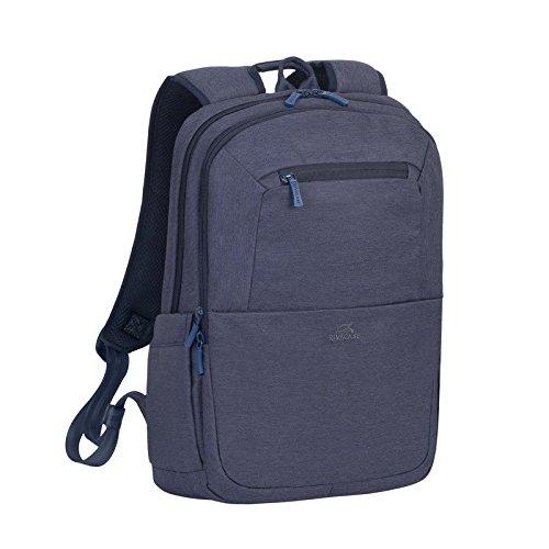 Rivacase An der Vorderseite ebenfalls eine versteckte Außentasche mit Reißverschluss für Dokumente bzw. Zubehör