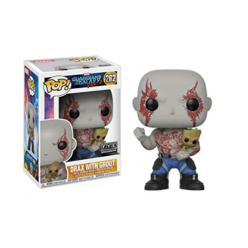 Figura Pop! Marvel Guardians of The Galaxy 2 Drax with Groot Exclusive