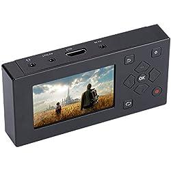ASHATA Video Capture Box, Vidéo Convertisseur 3 Pouces écran TFT Enregistreur AV Audio Vidéo Convertisseur Support SD Card pour Lecteur de Cassettes/VHS / VCR/DVD / DVR / Hi8