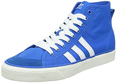 adidas Originals Men's Nizza Hi Blue, White and Gum 2 Gore-Tex Sneakers - 8 UK