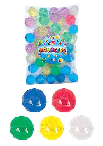 Partynelly 10x großer Flummi Diamant | Mitgebsel Kindergeburtstag | 4,5 cm
