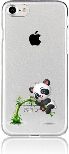 Blitz® BÄR Schutz Hülle Transparent TPU Cartoon Comic iPhone Cute Panda M10 iPhone 7PLUS / 8PLUS PANDA Dick M8