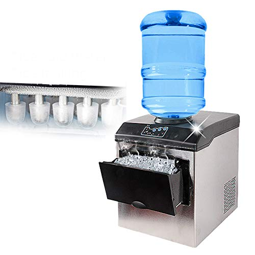 ACOMG Máquina para Hacer Hielo en la encimera con Cuchara, máquina para Hacer Cubos de Hielo compacta, dispensador de Agua para Oficina, Dos Maneras de Agregar Agua, fácil de Usar y Limpiar