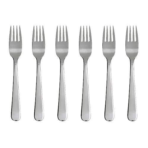IKEA DRAGON - Salad/dessert fork, stainless steel / 6 pack - 16 cm