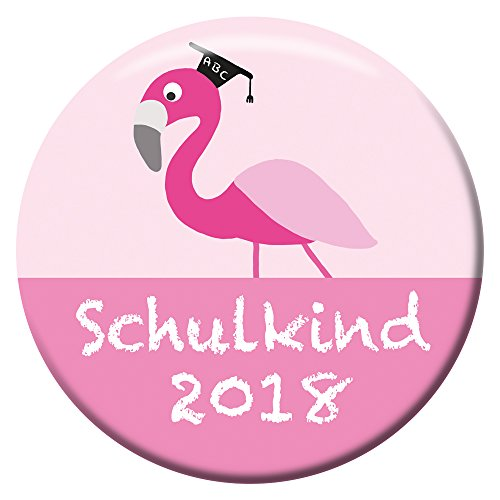 Polarkind Button Anstecker Flamingo Schulkind 2018 Geschenk Zum Schulanfang Mädchen 38mm Handmade