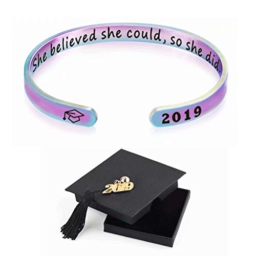 l Graduation Gifts Cuff Bracelet Armband with Personalized Inscription ()