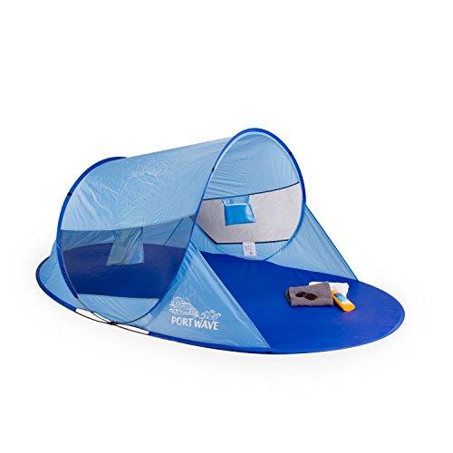 Portwave Arielle Strandmuschel in Blau - UV-Schutz Faktor 60 - UV Standard 801 Institut Hohenstein -...