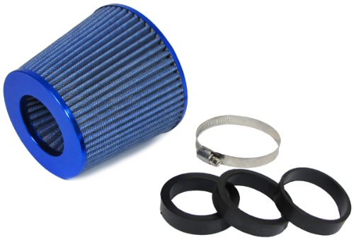 Carparts-Online 19165 Performance Sport Luftfilter mit Adapter 60/65/70mm blau - Turbo Luftfilter