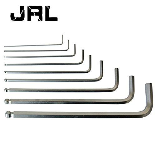 JRL 9PCS Ball Point End Inbusschlüssel Imbus Schlüssel Set für Auto Motor 1,5mm-10mm - Ball-end Hex Set