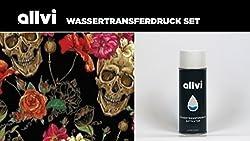 Wassertransferdruck Folie Wtd Starter Set Skulls & Flowers Inkl. Aktivator, Messer Und Handschuhe
