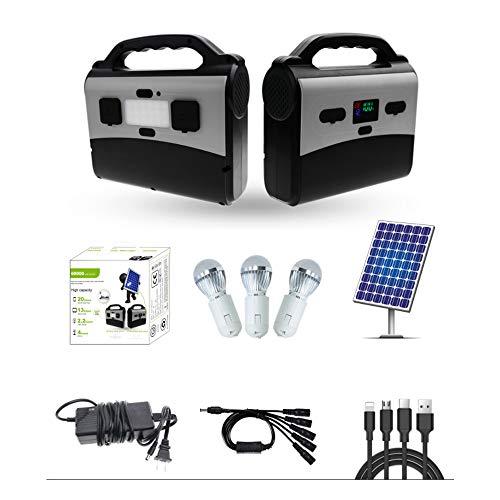PNI PNI-GH-H200 Photovoltaik-Anlage Greenhouse H200, Lithiumbatterie 3 Leuchtmittel, USB / 12V / 230V / 200W-Ausgang, tragbar, Solarpanel