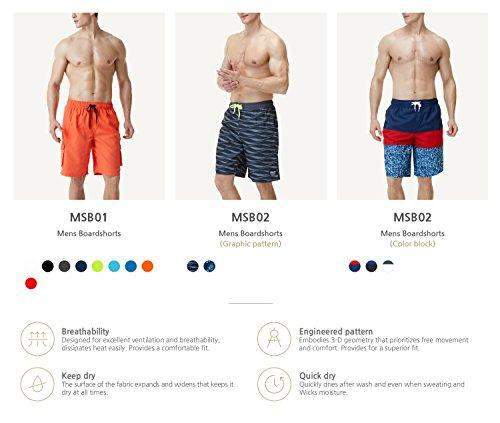 Tesla da bagno da uomo ad asciugatura rapida acqua Beach Board shorts MSB01/MSB02/MSB03 TM-MSB01-NVY
