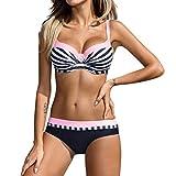 OIKAY Push up BH Bikini Damen Triangel Bikini Damen Set Push up Swimsuits Strand Badeanzug Badebekleidung Bademode Bikini Triangel