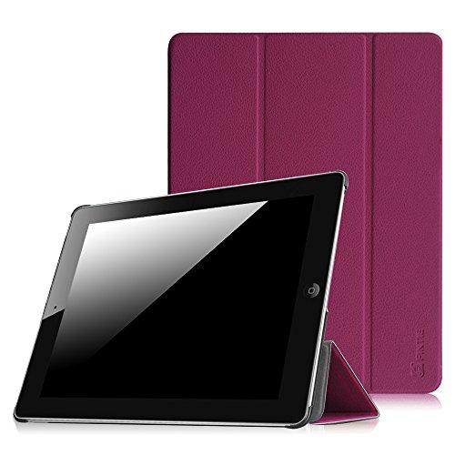 Fintie Apple iPad 2/3/4 Hülle Case - Ultradünne Superleicht Schutzhülle SlimShell Cover Tasche Etui mit Auto Schlaf/Wach und Standfunktion für Apple iPad 2 / iPad 3 / iPad 4 Retina, Lila