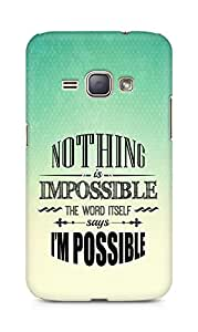 AMEZ Nothing is Impossible Back Cover For Samsung Galaxy J1 (2016 EDITION)
