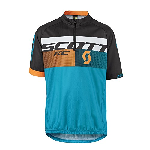 Scott RC Pro Junior Kinder Fahrrad Trikot kurz blau/schwarz/orange