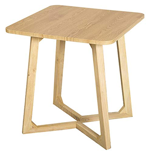 Table carrée/Petite Table Basse/Salon en Bois Massif, côté canapé