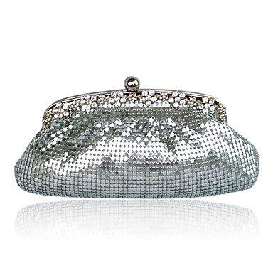 pwne Wunderschöne Satin Mit Pailletten Und Crystal Abend Tasche Handtasche Handtasche Kupplung. Weitere Farben (6087) Champagne