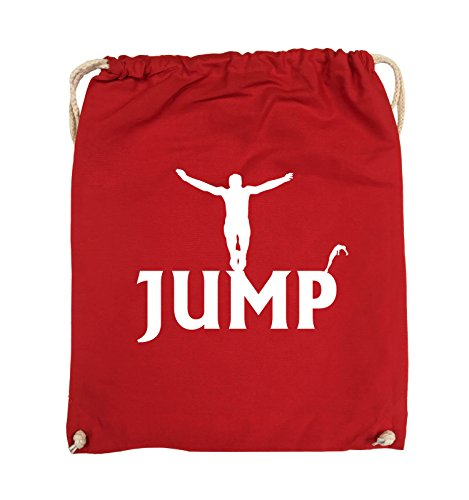 Borse Da Commedia - Jump - Figure - Turnbeutel - 37x46cm - Colore: Nero / Argento Rosso / Bianco