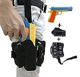 Pistola de juguete clásica, soporte de pistola táctica para muslo, pistola de juguete colorida para niños con balas suaves, pistola de aprendizaje y pistola de seguridad, tamaño real, juego divertido al aire libre