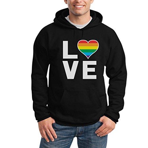 Shirtgeil LGBT Hoodie Homosexuell Gay Pride Regenbogen Herz -