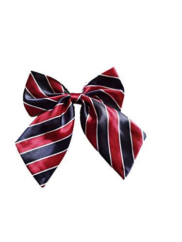 Party Leopard Kostüm - Damen mädchen fashion satin schleife krawatte Krawatte 15+ farben party kostüm: leopard, gepunktet, streifen by Fat-catz-copy-catz - Damen Rote/Schwarz Streifenkrawatte, 12.5cm x 11cm