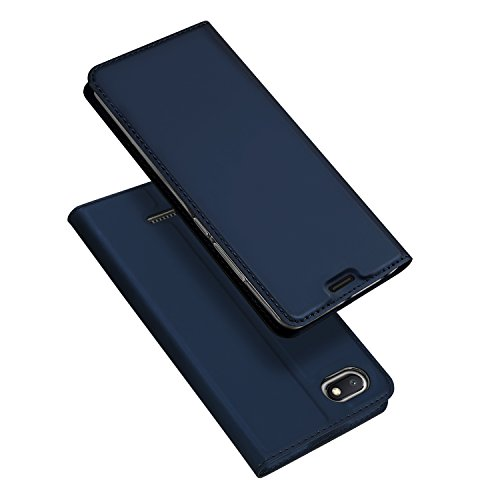 DUX DUCIS Funda Xiaomi Redmi 6A,Flip Folio Cover,Folding support,1 Card Slots,Magnetic,Ultra-Delgado Carcasa para Xiaomi Redmi 6A (Navy blue)