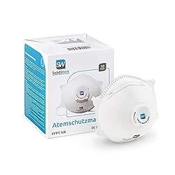SolidWork Atemschutzmaske im 5er oder 10er Set - Premium Atemmaske - Perfekt anpassbare FFP1 Mundschutz Maske - Feinstaubmaske, Staubschutzmaske, Staubmaske