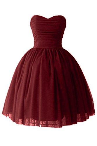 Basta TOSKANA sposa a forma di cuore sera vestimento tulle Cocktail Party sposa giovane breve lungo abiti da sposa rosso vivo