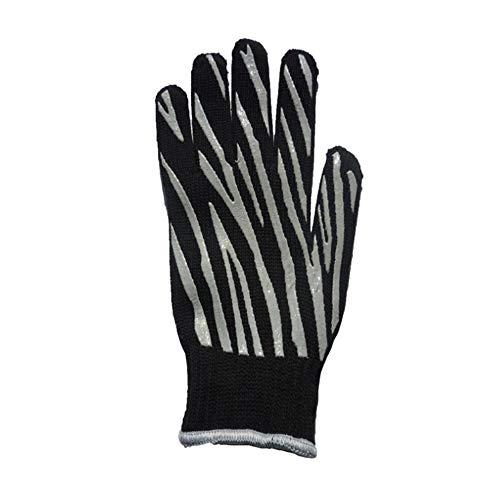 Outdoor Camping Mikrowelle Aramid + Baumwolle Hochtemperatur-Handschuh gegen Verbrühungen Handschuhe (Color : Black, Size : Size: Length 36-Width 17)