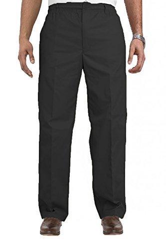 Hommes Carabou Classics King Size Rugby Pantalon Grand Taille Élastique Pantalon De Travail Noir - Noir
