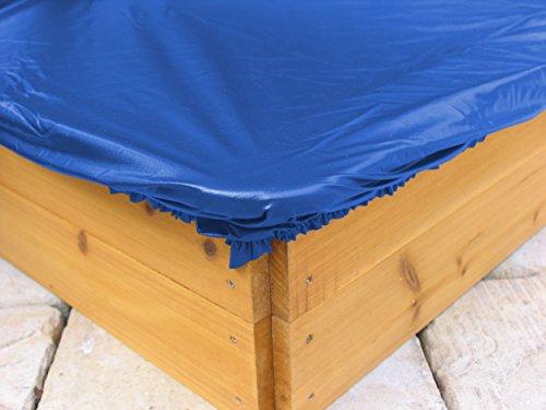 GRASEKAMP Qualität seit 1972 Sandkastenabdeckung Plane für Sandkasten 200x200cm Blau