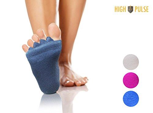 High Pulse Zehenspreizer Socken - Die sanfte Entspannung bei Hallux Valgus und Zehenfehlstellungen (2 Paar Grau)