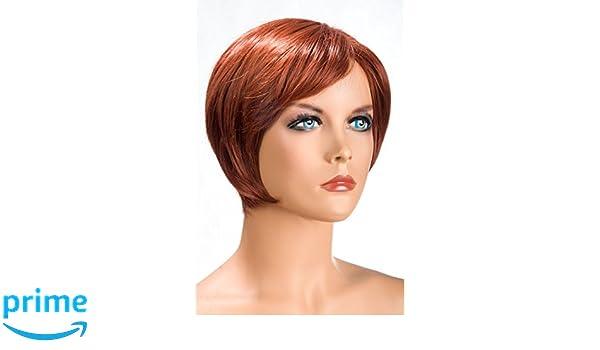 World Wigs Perücke Rot Kurzer Durchgestufter Bob Amazon