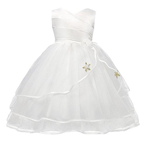 Happy Cherry - Vestido Verano Falda Floral para Bebés Niñas con Encaje...