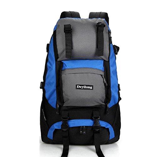LF&F Hochwertige Nylon 40L Kapazität Outdoor Sport Bergsteigen Klettern Camping Rucksack Wandergepäcktasche Umhängetasche Multifunktionsrucksack Unisex F