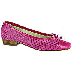 Riva Andros Patent/Suede Women's Ballerina Shoe Fuchsia - 42