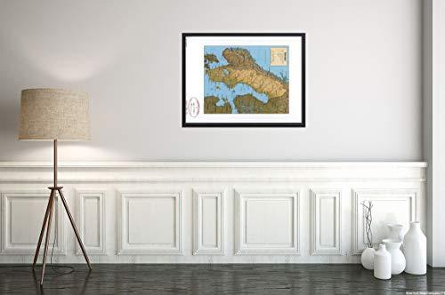 New York Map Company () Poster mit Karte von Schweden 1996 US Central Intelligence Office, ideal ALS Dekoration für Zuhause oder Geschäft
