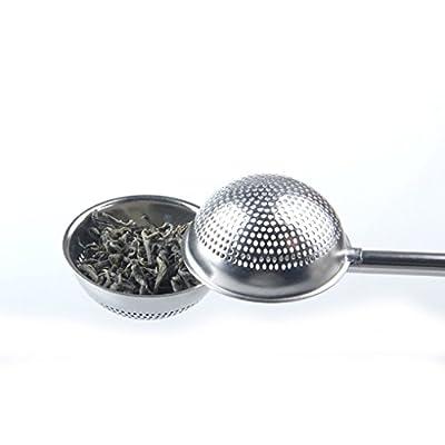 Flushzing Sphérique thé infuseur en Acier Inoxydable Passoire à thé Pousser Style thé infuseur Passoire thé infuseur Outil
