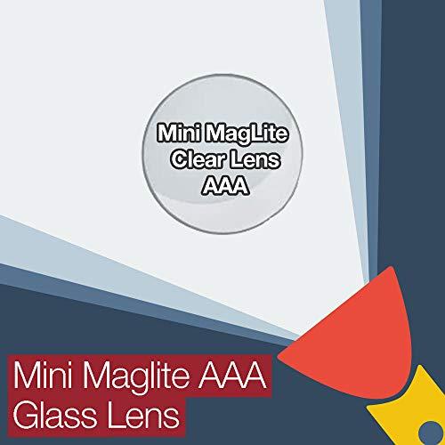 Mini MagLite AAA Lentille de rechange en verre transparent