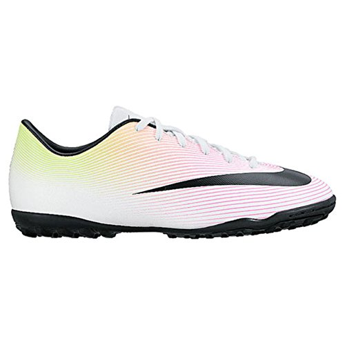 Nike JR Mercurial Victory V Tf, Scarpe da Calcio Unisex – Bambini Bianco (Blanco (White / Black-Volt-Total Orange))